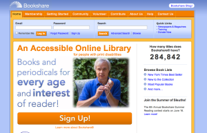 Screen grab from Bookshare's website: https://www.bookshare.org