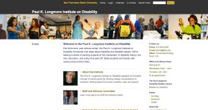 Screen shot from the Longmore Institute website: http://longmoreinstitute.sfsu.edu