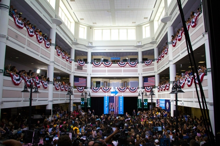 Source: http://masonvotes.gmu.edu/2016/09/16/michelle-obama-visits-mason/ Photos by Mimi Albano and Leslie Steiger.